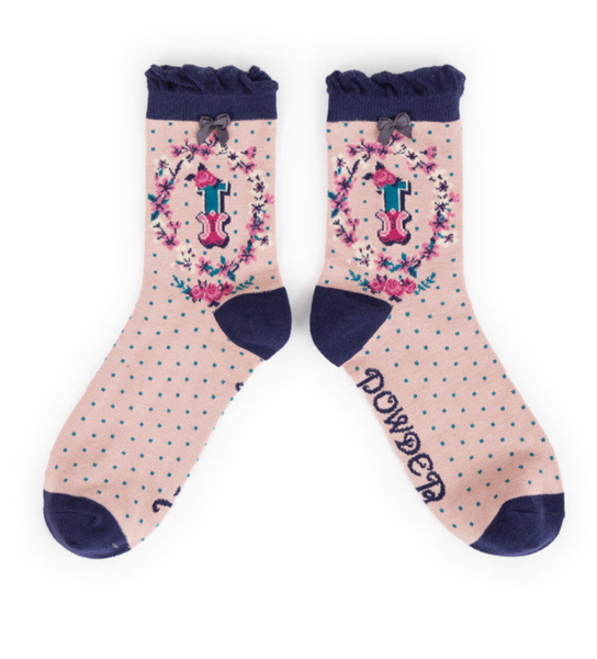 Powder Monogram Socks I