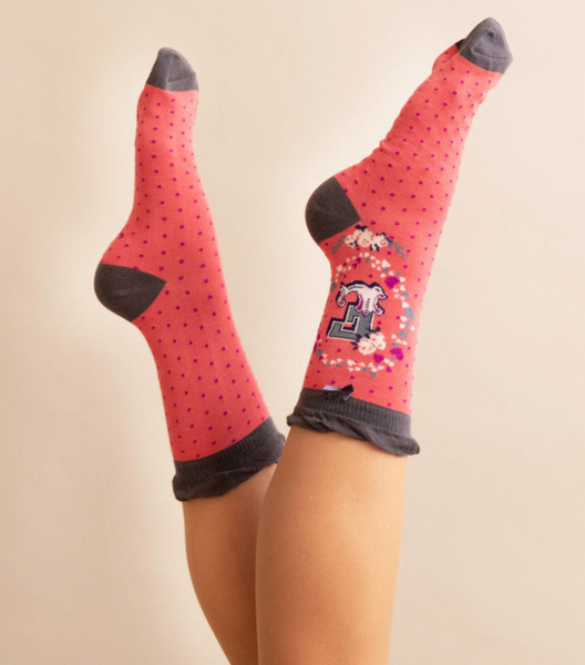 Powder Monogram Socks E