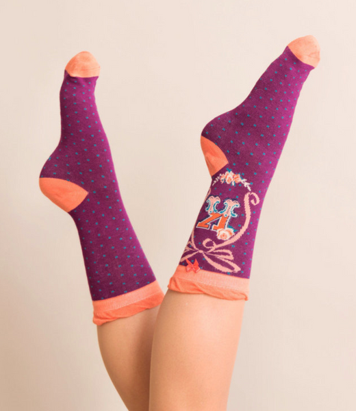 Powder Monogram Socks K