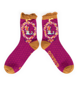 Powder Monogram Socks L