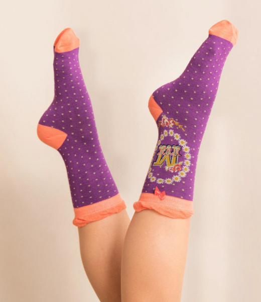 Powder Monogram Socks M