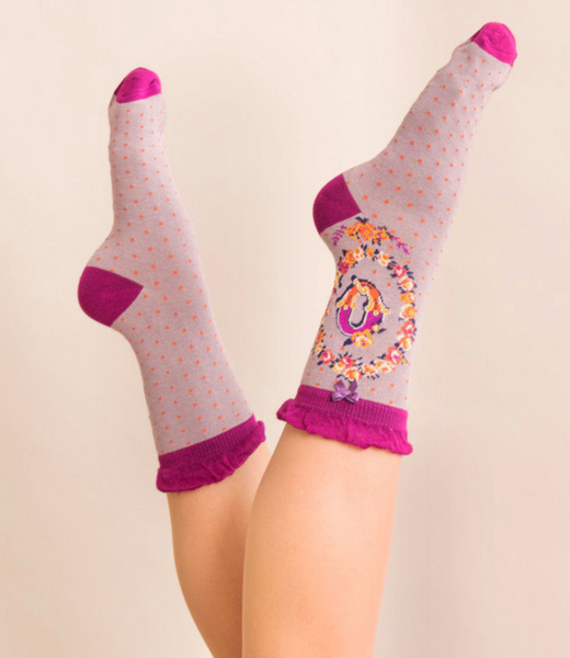Powder Monogram Socks Q