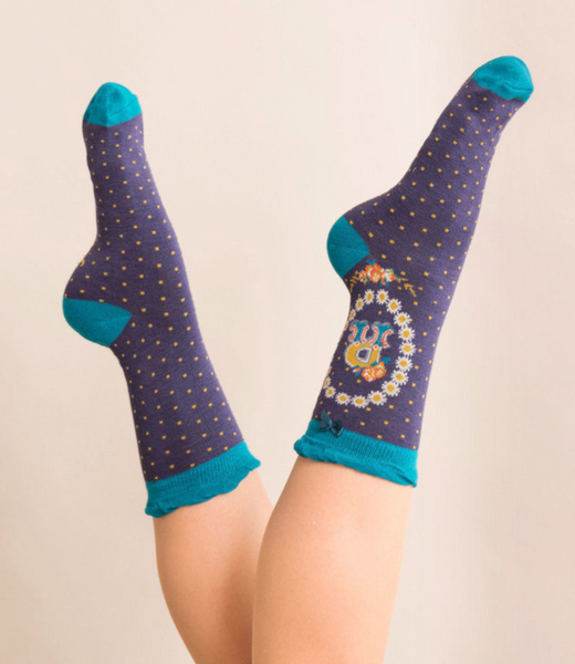 Powder Monogram Socks R