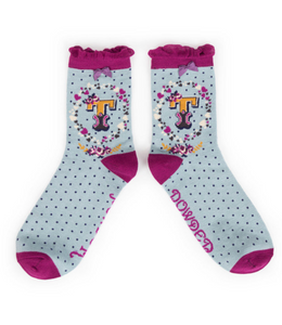 Powder Monogram Socks T