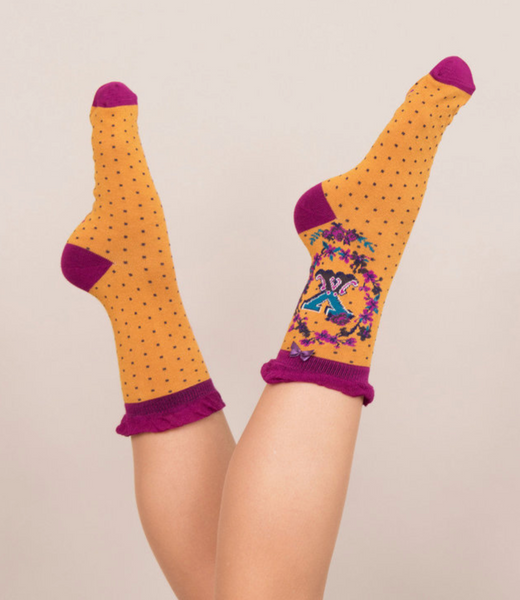 Powder Monogram Socks X