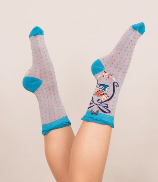 Powder Monogram Socks Z