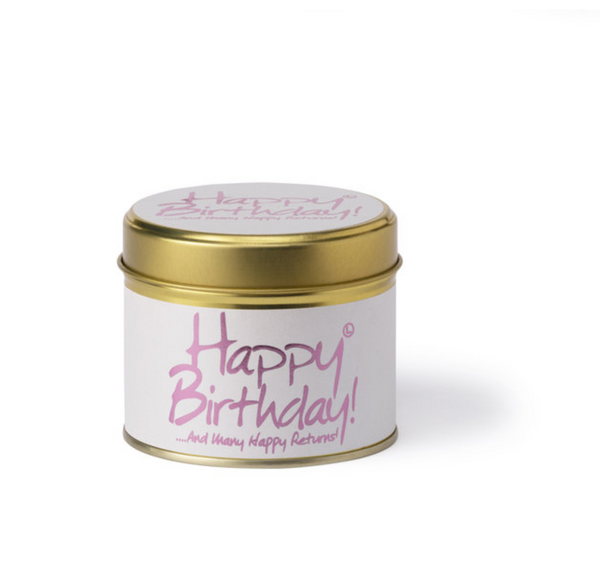 Lily Flame Happy Birthday Candle