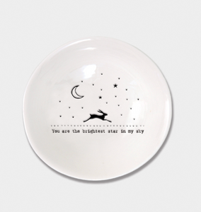 "East of India Porcelain Wobbly Bowl - Medium ""Brightest Star"""