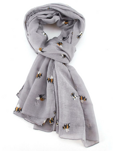 Bee Scarf - Grey