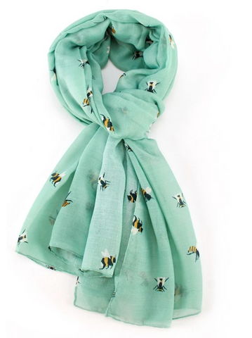 Bee Scarf - Green