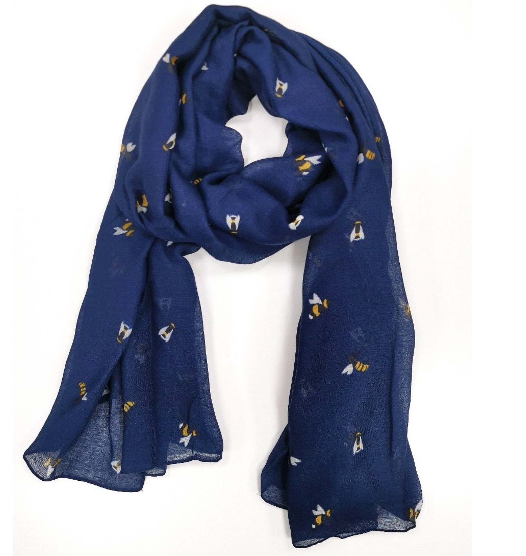 Bee Scarf - Navy Blue