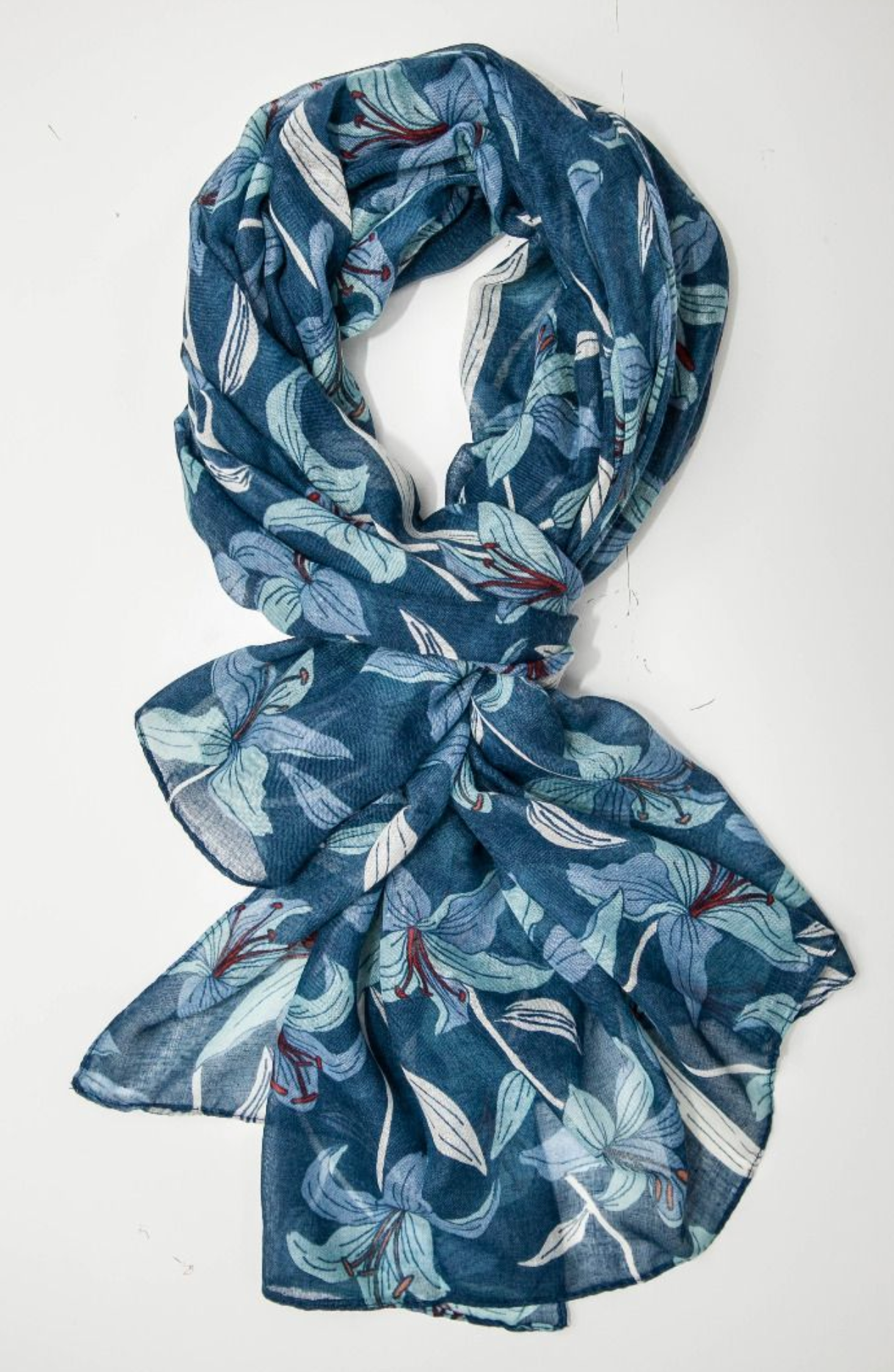 Lily Scarf - Navy Blue