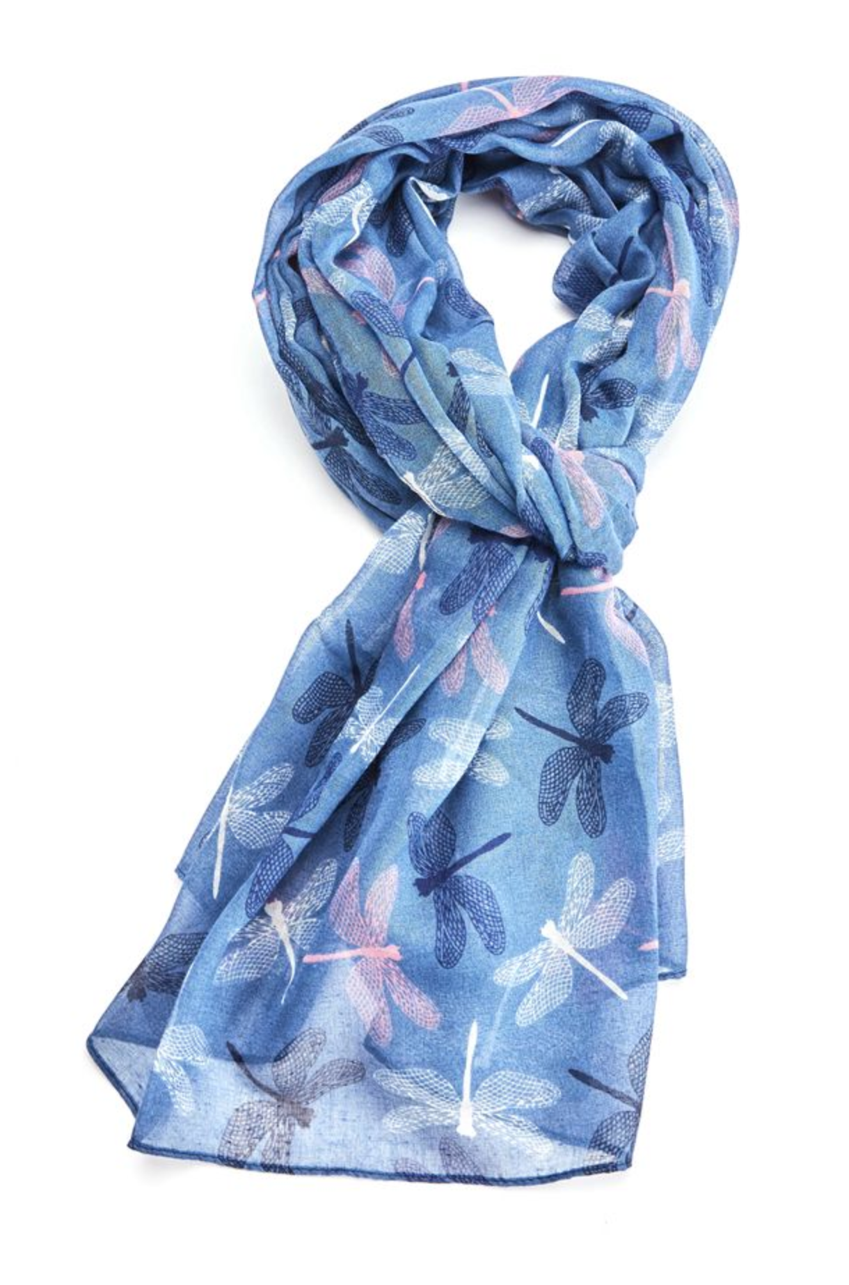 Chic Dragonflies Scarf - Blue