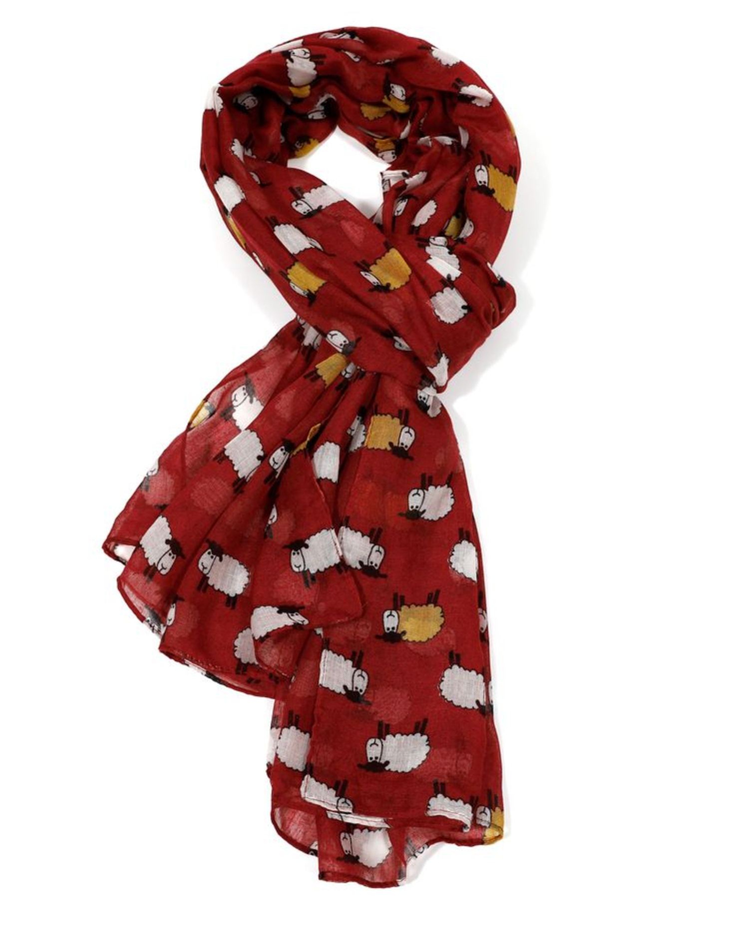Sheep Scarf - Maroon