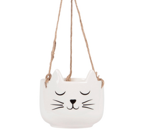Hanging Ceramic Cat's Whiskers Planter