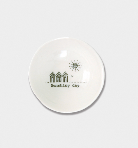 "East of India Porcelain Wobbly Bowl - Small ""Sunshiny day"""