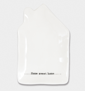 "East of India Porcelain Wobbly House Dish - ""Home sweet home"""