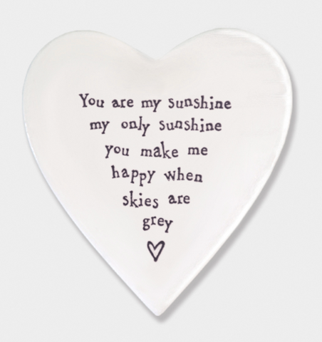 East of India Porcelain Coaster - You are my sunshine.....