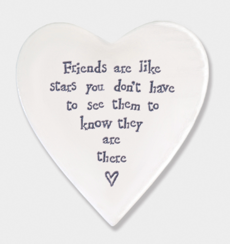 East of India Porcelain Coaster - Friends are like stars.....