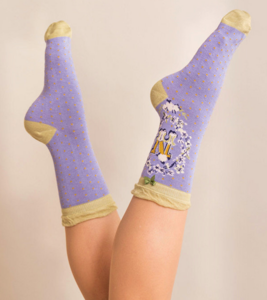 Powder Monogram Socks N