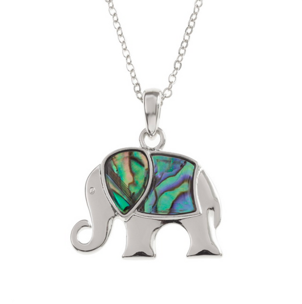 Paua Shell Elephant Necklace TJ109
