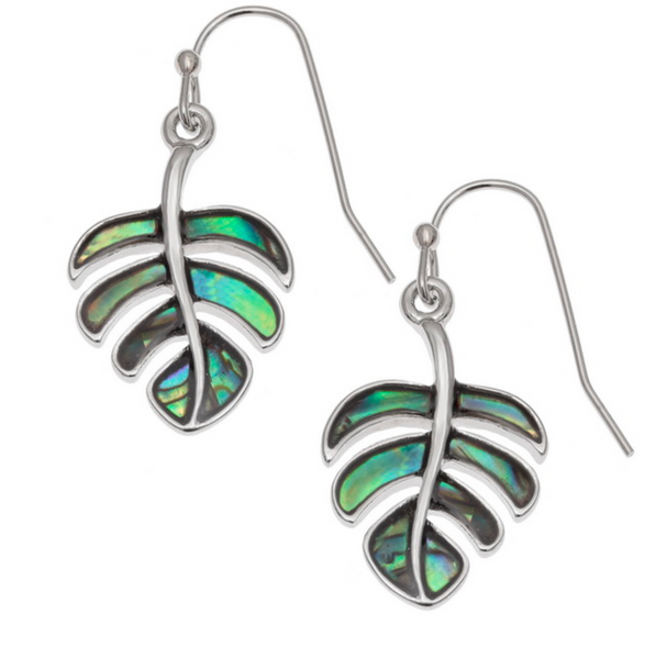 Paua Shell Cheese Plant Drop Earrings