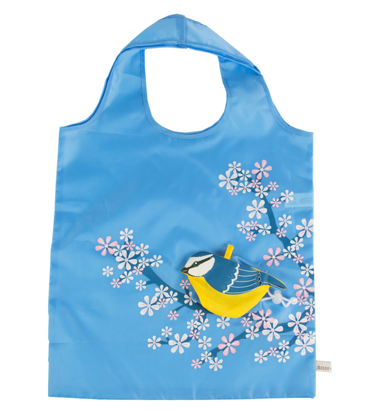 Foldable Bluebird Shopping Bag