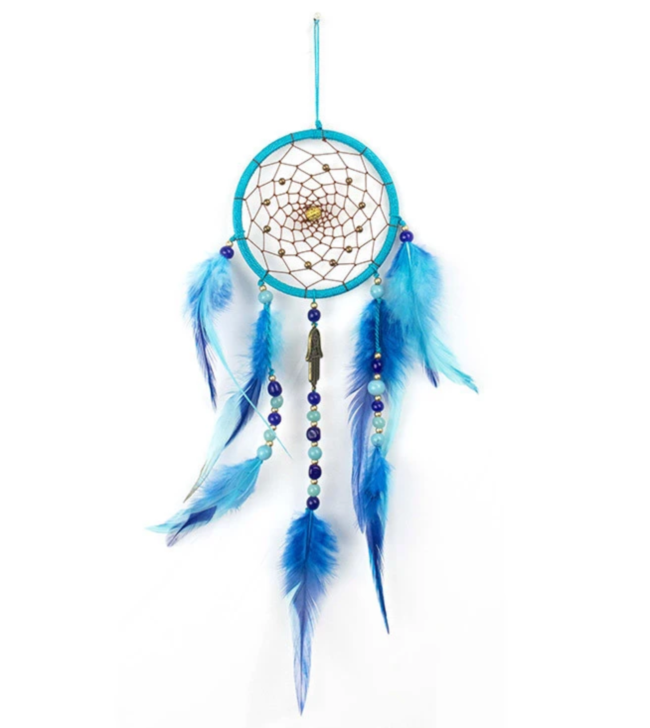 Dreamcatcher - Turquoise with Blue Feathers