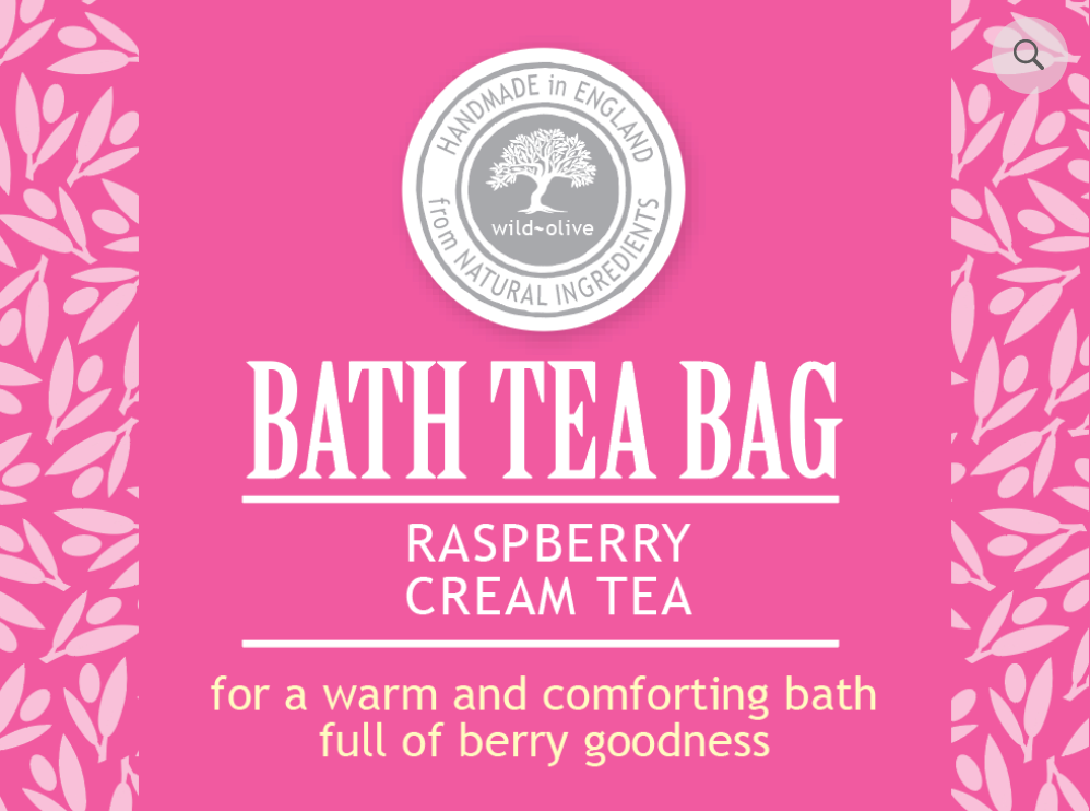 Bath Tea Bag - Raspberry Cream Tea