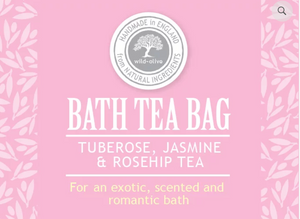 Bath Tea Bag - Tuberose, Jasmine & Rosehip Tea