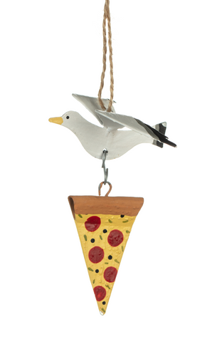 Shoeless Joe Seagull with Stolen Pizza