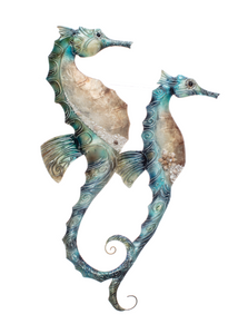 Shoeless Joe Delicate Seahorses Wall Art