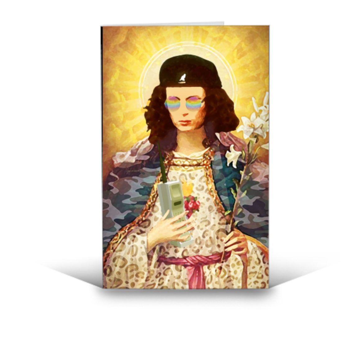 Greetings Card - Patron Saint of Fab - Eddie