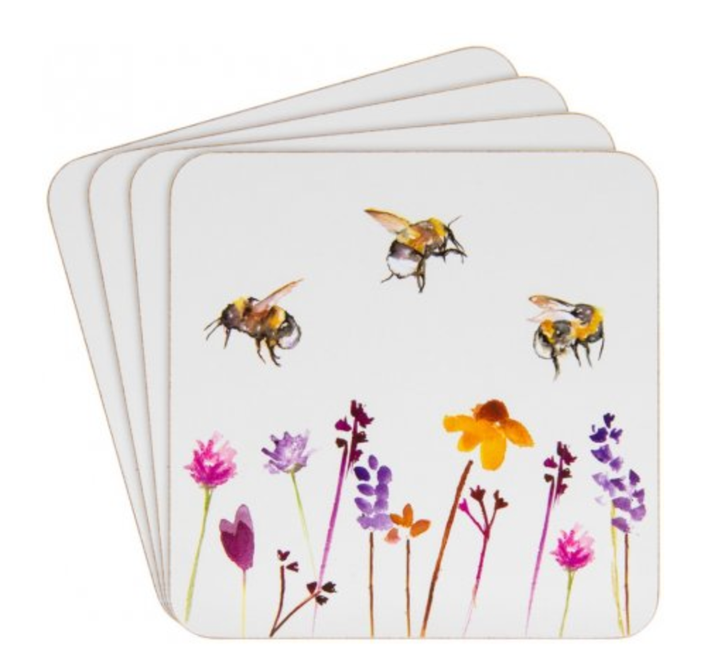 Set of 4 Busy Bee Coasters