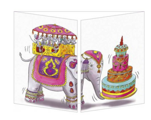 Sophie Turrel Folding Greetings Card - Bollywood Birthday