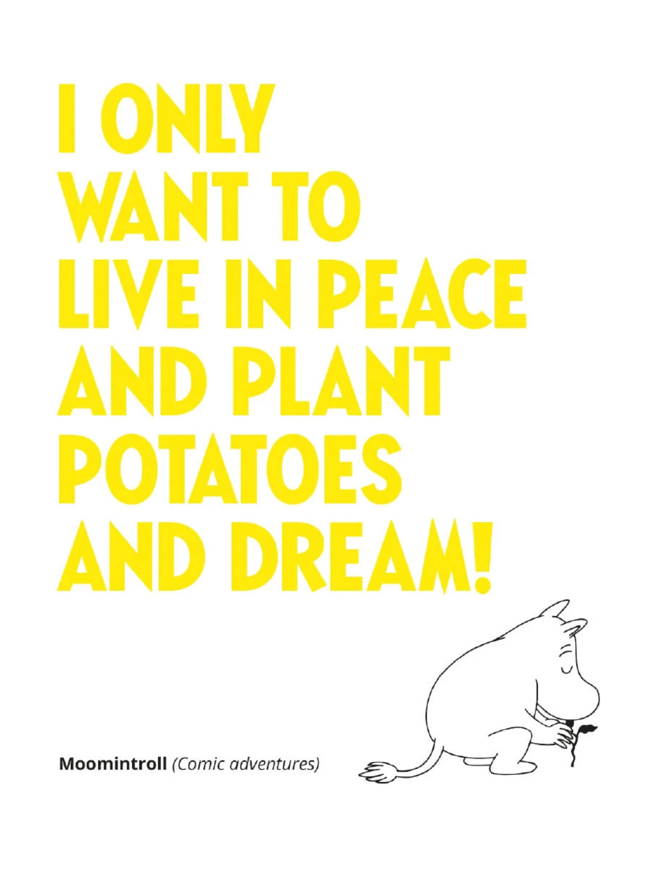 Moomin Greetings Card - I Only Want To Live In Peace.....