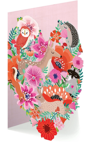 Greetings Card - Roger La Borde Cut Out Card - Summer Forest