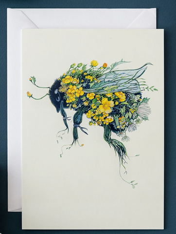 Daniel Mackie Bumble Bee Greetings Card