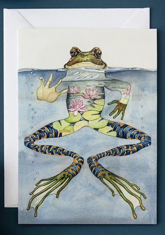 Daniel Mackie Frog Greetings Card