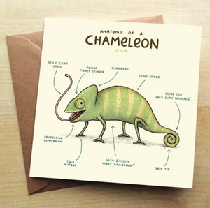 Greetings Card - Anatomy of a Chameleon