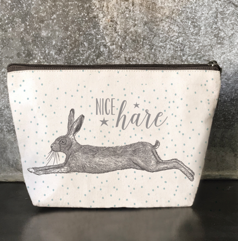 "East of India ""Nice Hare""  Cosmetic Purse"