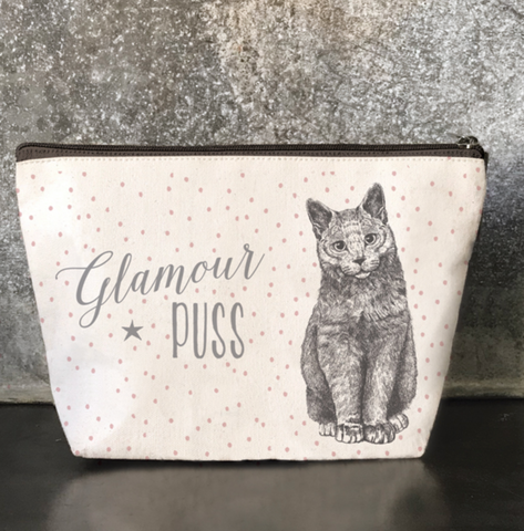 "East of India ""Glamour Puss""  Cosmetic Purse"