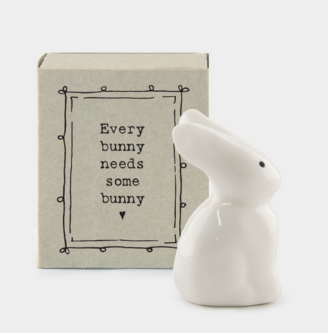 "East of India Matchbox Animal - ""Every Bunny Needs Some Bunny"""