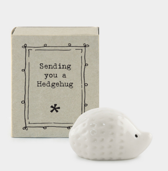 "East of India Matchbox Animal - ""Sending You A Hedgehug"""