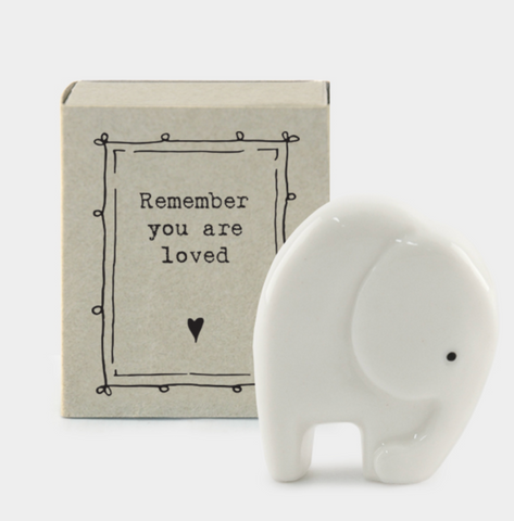 "East of India Matchbox Animal - ""Remember You Are Loved"""