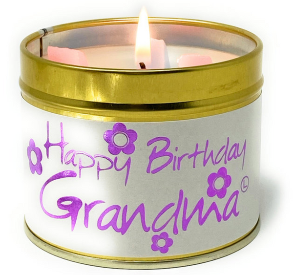 Lily Flame Happy Birthday Grandma Candle
