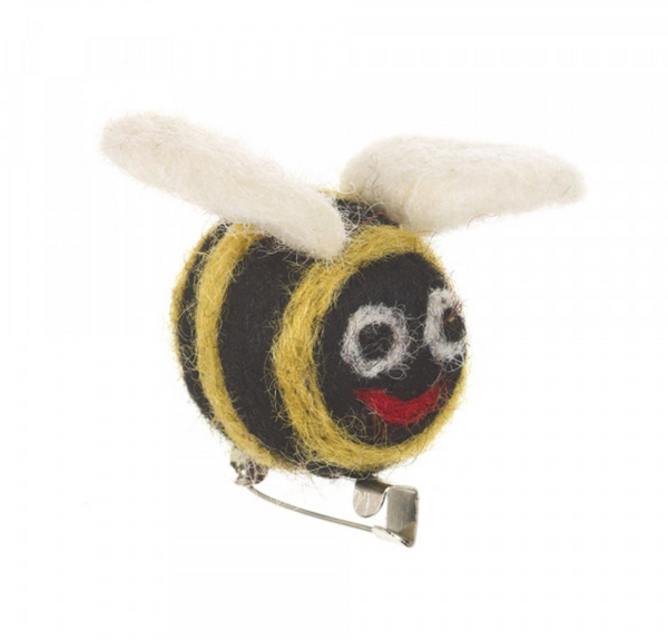 Felted Bee Brooch