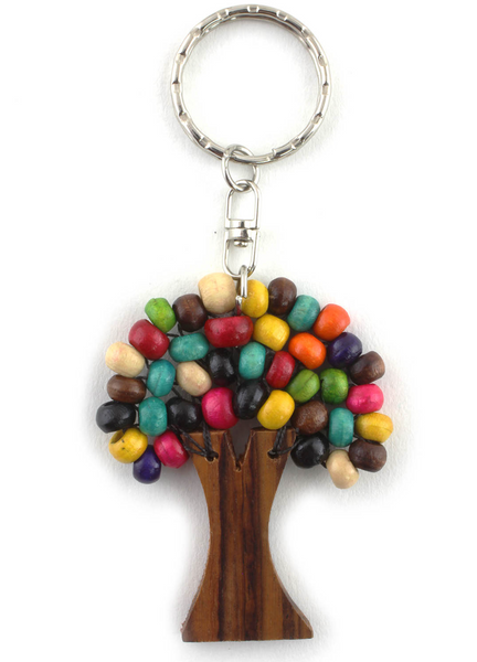 Rainbow Tree Keyring