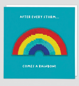 Greetings Card Redback Cards Shine ''After Every Storm...Comes A Rainbow""