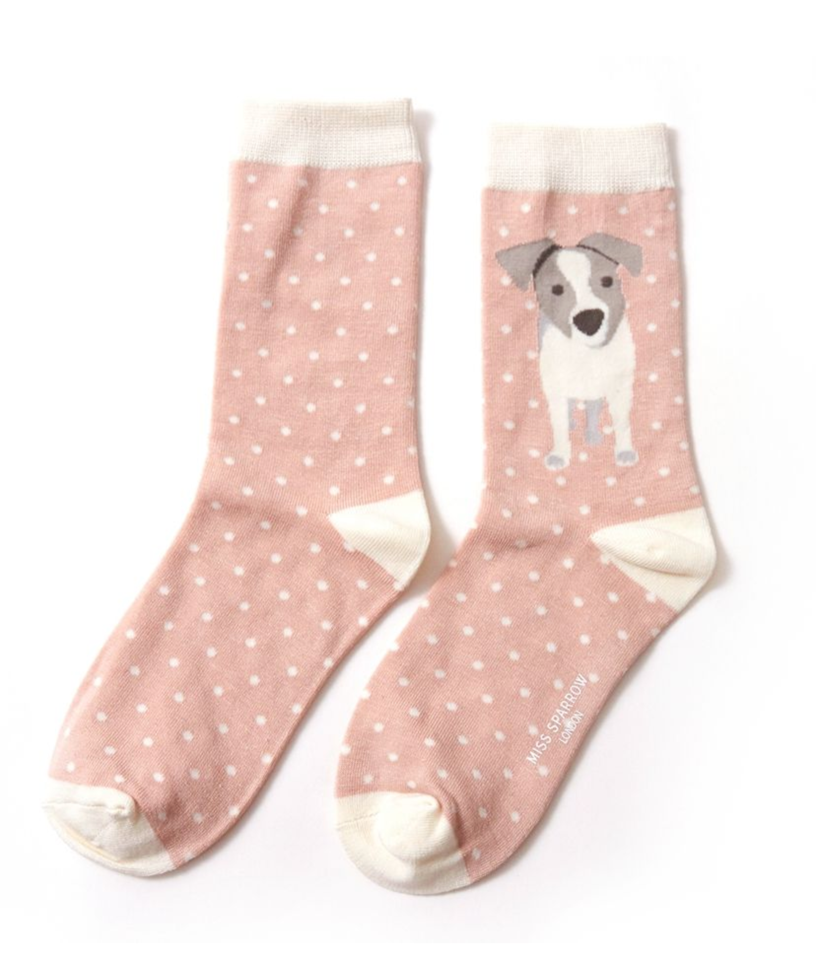 Miss Sparrow Bamboo Ladies Socks - Jack Russell Pup
